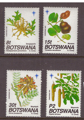 Botswana 1991 Plants,Seed Pods,Christams SG721-724 mint set stamps