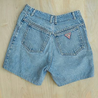 Vtg 80s 90s Guess High Waisted Jean Shorts Georges Marciano For Guess Size 26