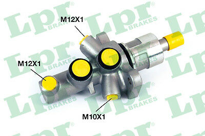 2x Brake Master Cylinders 1350 LPR 34311165544 P30225 Top Quality Replacement