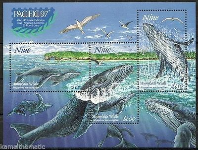 Niue 1997 Pacific Stamp Exhibition. Whales MS MNH