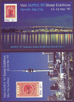 Niue 1997 Aupex Stamp Exhibition set of 2 MS MNH