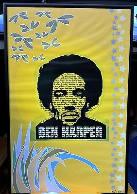 limited edition BEN HARPER Original 11x17 Promo Poster by DAVIS shipped rolled