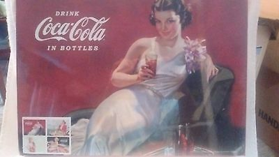 Coca-Cola Heavy Duty Cork Backed Placemats Set of 4 - Bathing Beauties - NEW