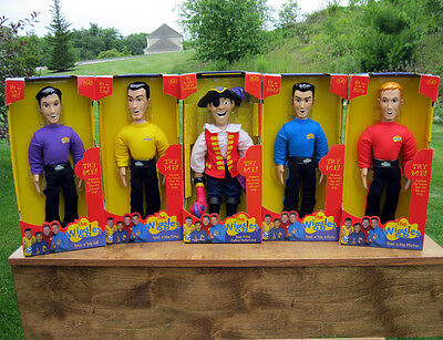 COMPLETE WIGGLES Talking Dolls FIGURES – GREG ANTHONY MURRAY JEFF CAPTAIN