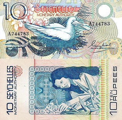 SEYCHELLES 10 Rupees Banknote World Paper Money UNC Currency Pick p23 Bird Bill