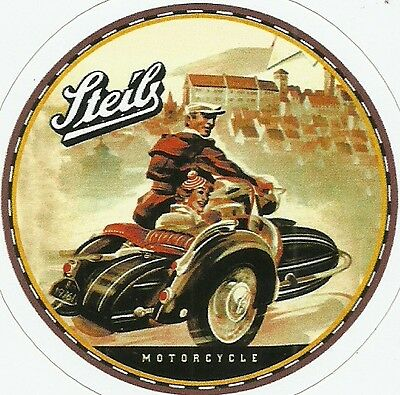 STEIB  MOTORCYCLE SIDECAR Sticker Decal