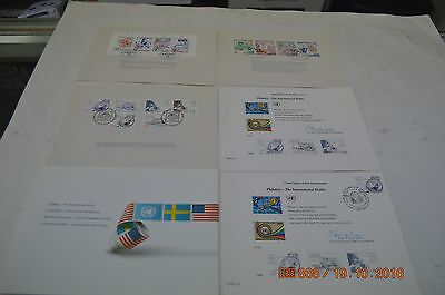 UN Philately souvenir sheeets and first day covers