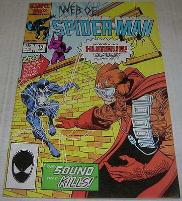 WEB OF SPIDER-MAN #19 (Marvel 1986) 1st app HUMBUG & 1st app SOLO in cameo (VF-)