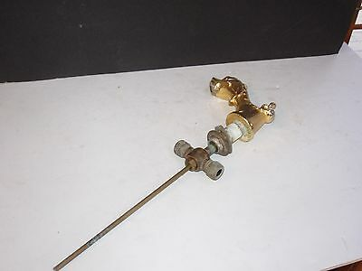 Vintage Brass Hollywood Regency Dolphin Bathroom Hardware Lot #1 Spigot Faucet