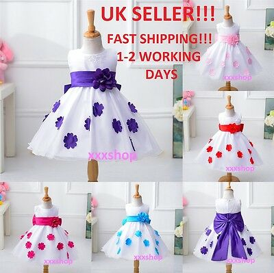 Girls Flower/Bridesmaid/Party/Princess/CHRISTMAS/Wedding/Christening/Dress
