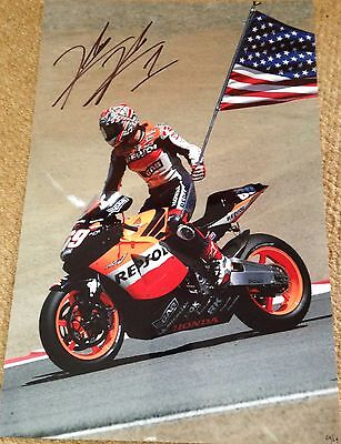 Nicky Hayden Hand Signed Unframed Limited Edition Photo 68/69 Worldwide, 1st Win