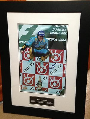 Fernando Alonso Hand Signed 2006 World Champiion Framed Limited Edition Photo