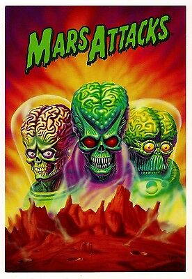 Official Oversized Mars Attacks Conquest card from Screamin' - Very Rare