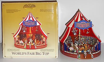 Mr. Christmas WORLD'S FAIR BIG TOP CIRCUS Animated Gold Label Musical 30 Songs