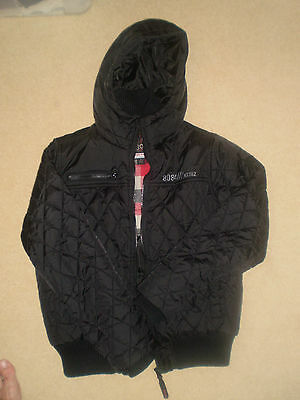 NEXT Boys Quilted Hooded Jacket Black Age 12 Years