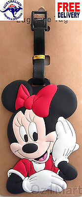 MINNIE MOUSE Luggage School Tag Suitcase Bag Travel