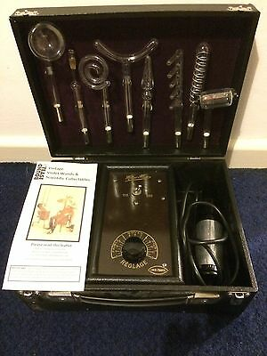 Restored 2 vintage Violet Wand electrotherapy machine +8 working electrodes