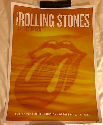 Rolling Stones Desert Trip Show Poster Numbered #43 Of 300 Rare New