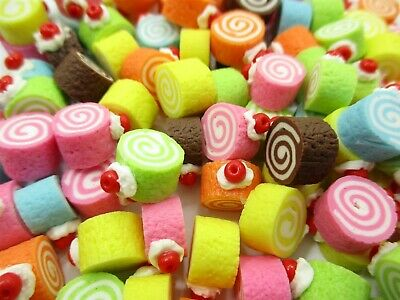 Dollhouse Miniature Food Lot 10 Loose Assorted Mixed Color Heart Macaroon 6431