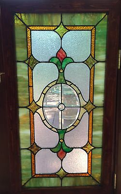Large beveled center  stained glass window