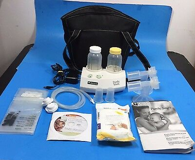 Ameda Purely Yours Double Electric Breast Pump And Accessories