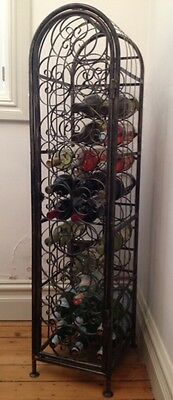 Wrought Iron 33 Bottle Wine Rack New Sydney