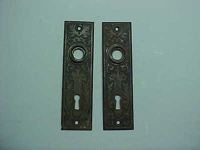 PAIR of VINTAGE DOOR KNOB PLATES FANCY DESIGN