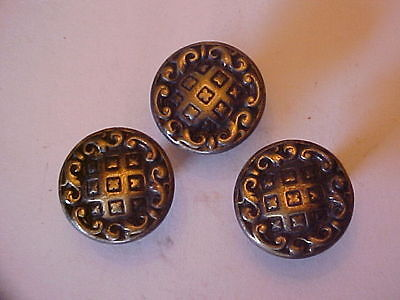 Lot Of 3 Vintage Draw  Knobs