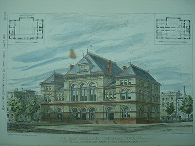 US Court House and Post Office, Utica, NY, 1879, Original Plan