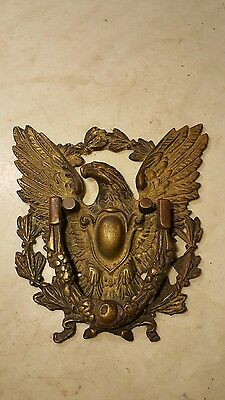 Antique Cast Brass Eagle Door Knocker-Great Detail