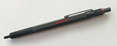 Rare Rotring 600 Knurled Original Design end Matt Black Ball Point Pen