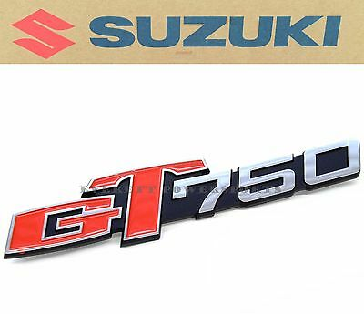New Genuine Suzuki Side Panel Cover Emblem 73-77 GT750 Lemans Kettle Badge #K170