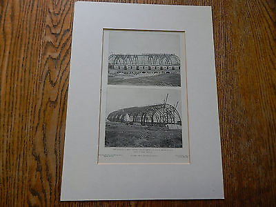The RIding Hall Roof,Armory for Squadron C.N.G.N.Y, Brooklyn,NY,1906, Lithograph