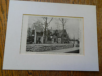 House of Edward Pritzlaff, Whitefish Bay,WISCONSIN,Amer Arch,J&B,1928,Lithograph