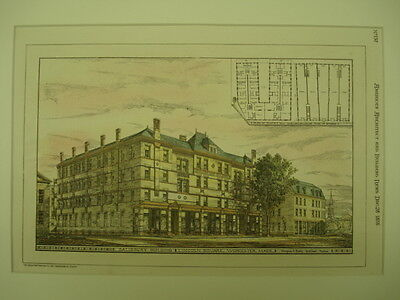 Salisbury Building, Lincoln Square, Worcester, MA, 1878, Original Plan