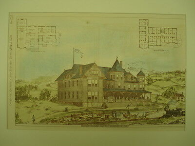 Cumberland Hotel, Burnside, KY, 1880, Original Plan