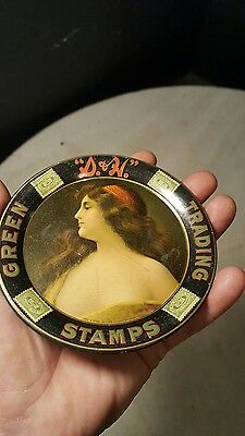 Antique Circa 1900 S&H Green Stamps Trading Tip Tray-Nice