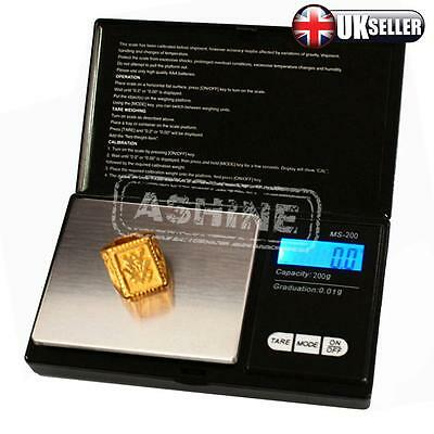 Electronic Pocket Mini Digital Jewelry Gold Weighing Scale 0.01g Weight 200 Gram