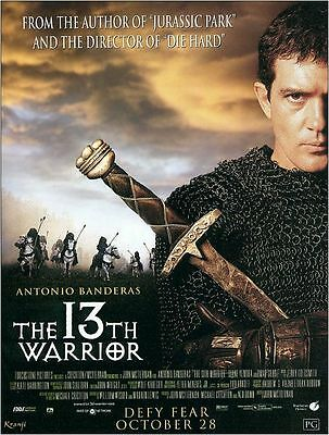 The 13th Warrior 1999 double sided one sheet - 27x40 rolled - free shipping