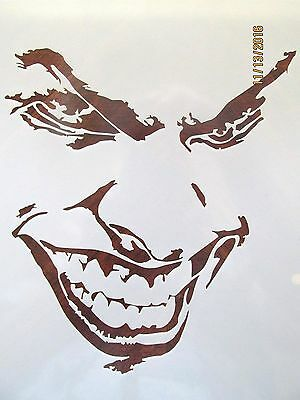Joker Evil Face 10 mil Mylar Reusable Stencil