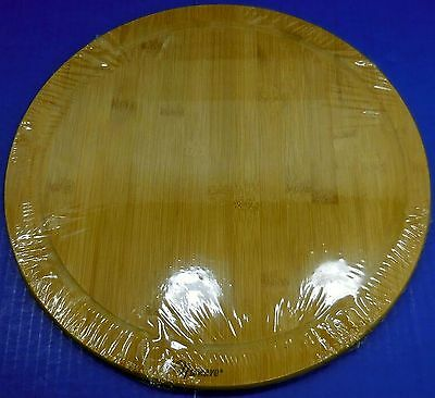 """NuWave Oven Bamboo Wood 14"""" Round Cutting Board Pizza Board 5105"""