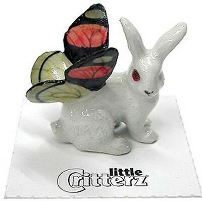 ➸ LITTLE CRITTERZ Fantasy Miniature Figurine Pixie Fairy Rabbit with Wings