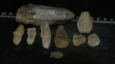 1000+ ct. LOT of RAW QUARTZ POINTS -  *Untreated *Natural  *16-365