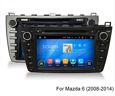 Android 5.1 Quad Core Car stereo DVD Player Gps Navigation For MAZDA 6  2008-12