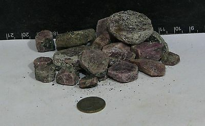 600+ ct. RAW LOT of RAW RUBY.  TUMBLE ROUGH -  *Untreated, Natural  *17-333