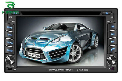 "6.2"" double Din Car DVD player Radio stereo,FM,USB/SD,Bluetooth/TV without GPS"
