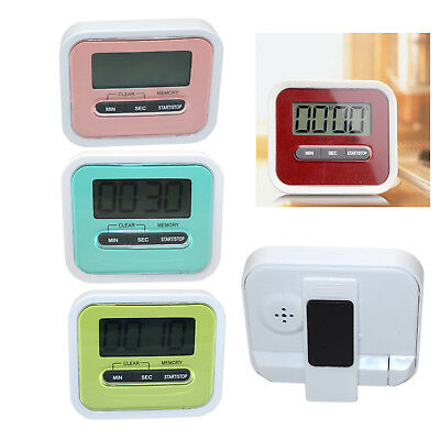 Magnetic Digital LCD Kitchen Timer Count Down Egg Cooking Fridge Beep Alarm Clip