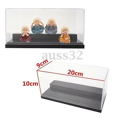 """7.8x3.5x3.9"""" 20cm Clear Acrylic Display Show Box Case Dustproof Tray Protection"""
