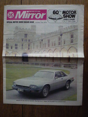 BRITISH LEYLAND MIRROR,SPECIAL MOTOR SHOW ISSUE, 1975 jm