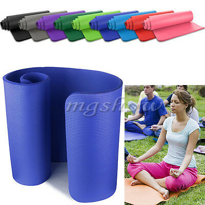 15mm Yoga Mat Thick Exercise Fitness Physio Pilates Camping Gym Mats Non-Slip UK